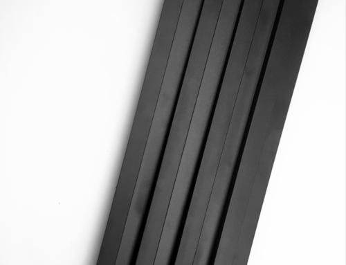 czarne lamele na scianę