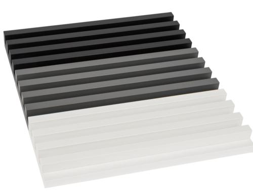 Modny szary panel lamelowy