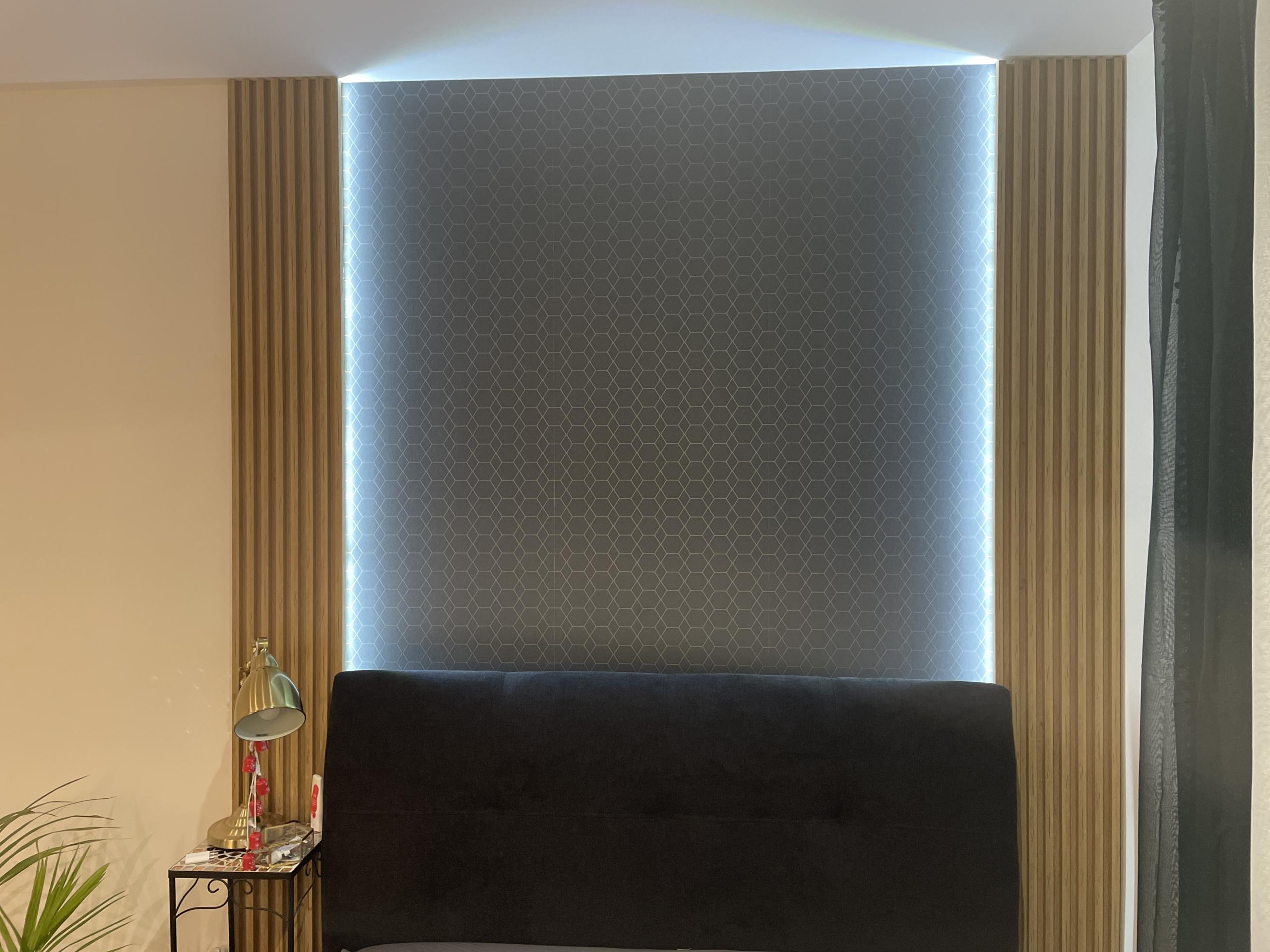 panel listewkowy z led
