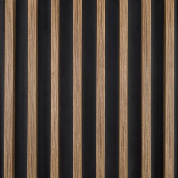 lamele scienno sufitowe ciemny dab na czarnym